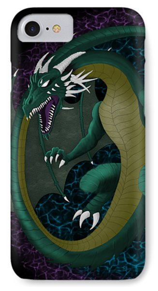 IPhone Case featuring the digital art Portal Dragon by Raphael Lopez