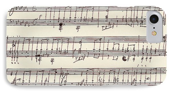 Portion Of The Manuscript Of Beethoven's A Flat Major Sonata, Opus 26 IPhone Case