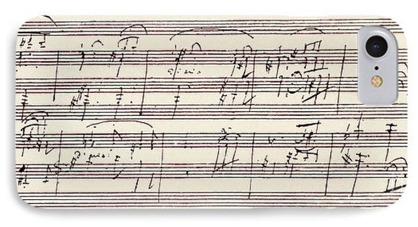 Portion Of The Manuscript Of Beethoven's Sonata In A, Opus 101 IPhone Case