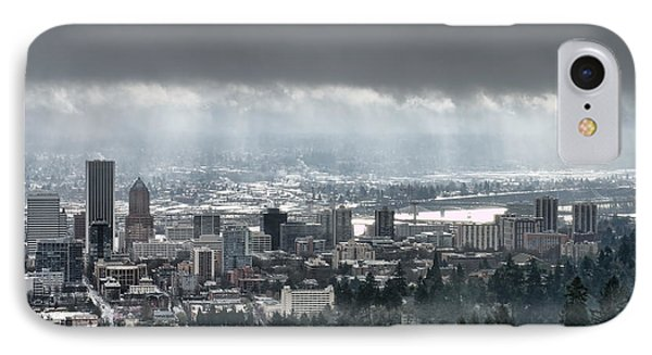 Portland After A Morning Rain IPhone Case by Don Schwartz