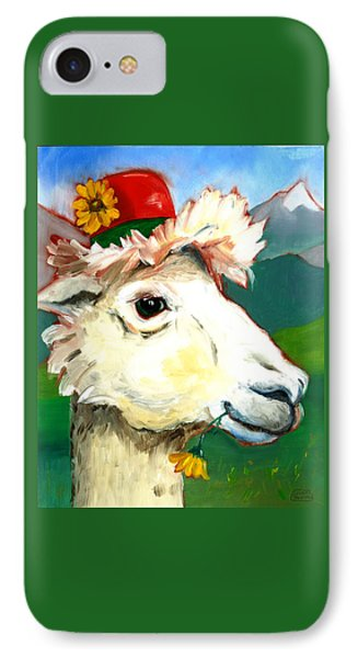 IPhone Case featuring the painting Portland Alpaca by Susan Thomas