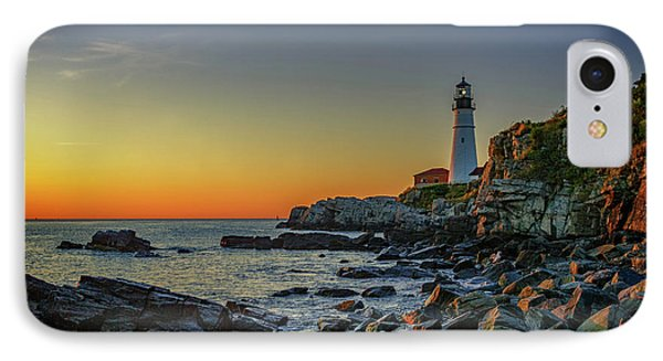 Portland Head Light At Dawn IPhone Case by Rick Berk