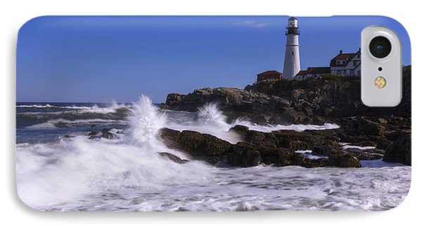 Portland Head Light I IPhone Case by Chad Dutson