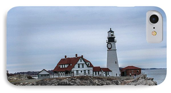 Portland Head Light IPhone Case by Victory  Designs
