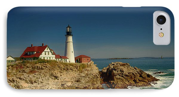 Portland Head Lighthouse 2 IPhone Case by Sherman Perry