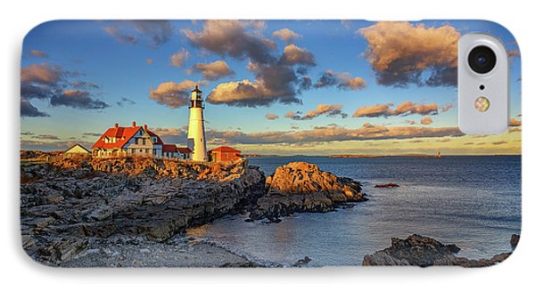 Portland Head Lighthouse At Sunset IPhone Case by Rick Berk