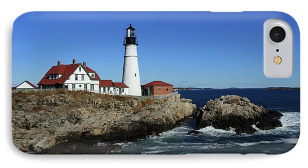 Portland Head Lighthouse IPhone Case by Lou Ford