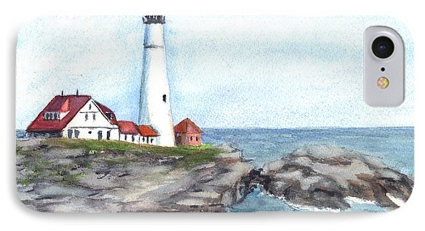 Portland Head Lighthouse Maine Usa IPhone Case by Carol Wisniewski