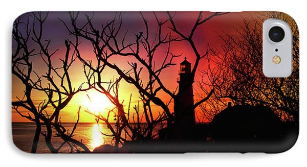 Portland Head Lighthouse Silhouette IPhone Case by Joann Vitali