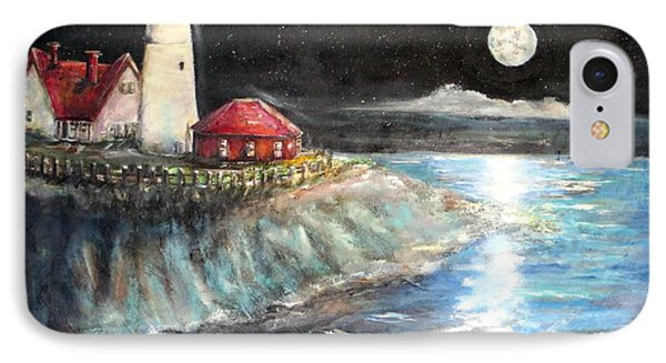 Portland Maine Twilight IPhone Case by Bernadette Krupa