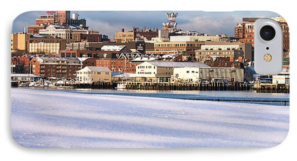 Portland Maine Winter Skyline IPhone Case by Eric Gendron