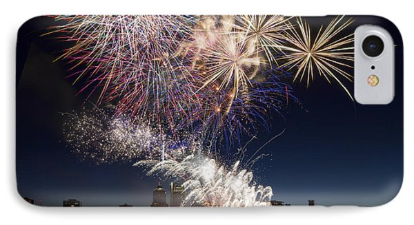 Portland Oregon Fireworks Phone Case by David Gn