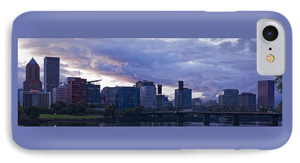Portland Oregon Panorama IPhone Case by Jonathan Davison