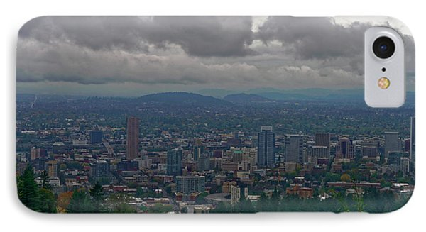 Portland Overlook IPhone Case by Jonathan Davison