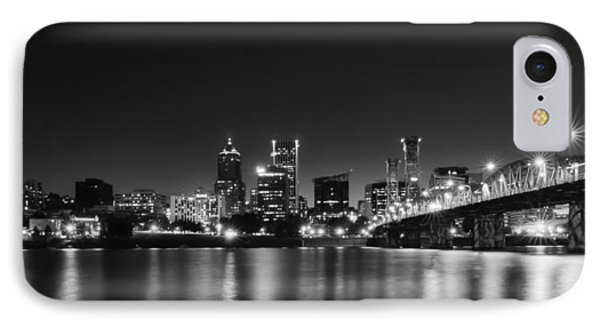 IPhone Case featuring the photograph Portland Skyline by Don Schwartz