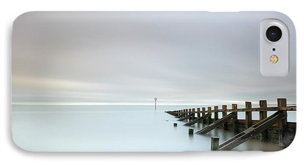 IPhone Case featuring the photograph Portobello Sea Groynes by Grant Glendinning