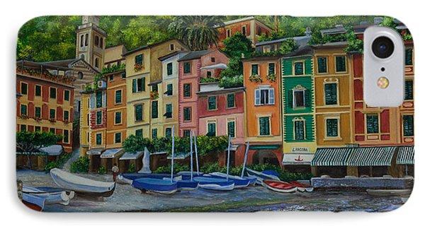Portofino Harbor IPhone Case by Charlotte Blanchard