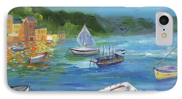IPhone Case featuring the painting Portofino, Italy by Jamie Frier