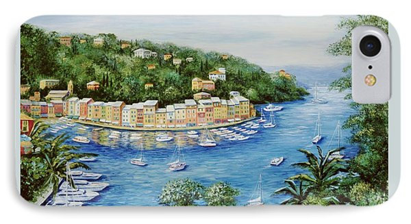Portofino Majestic Panoramic View IPhone Case by Marilyn Dunlap