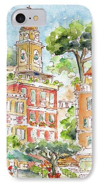 IPhone Case featuring the painting Portofino Piazetta by Pat Katz