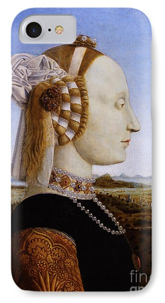 Portraif Of Battista Sforza Duchess Of Urbino IPhone Case
