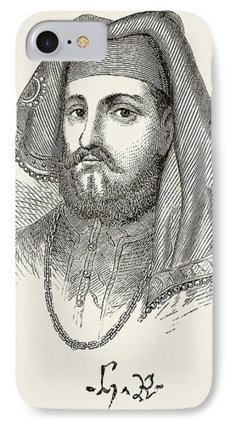 Portrait And Autograph Of King Henry Iv IPhone Case