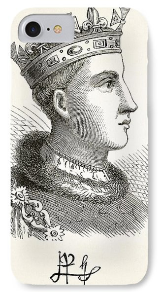 Portrait And Autograph Of King Henry V IPhone Case