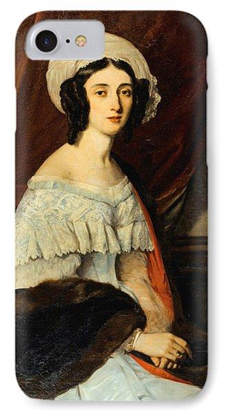 Portrait D'eugenie Gabrielle Barbou Des Courieres. Baronne Rivet IPhone Case