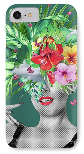 Portrait Floral  IPhone Case by Mark Ashkenazi