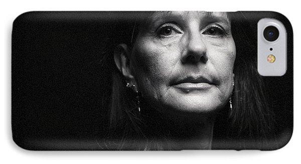 Portrait In Black IPhone Case by Shawn Jeffries