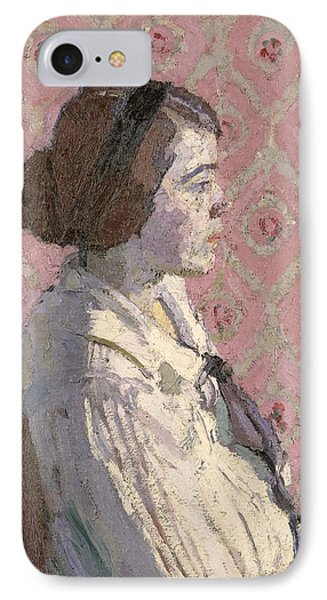 Portrait In Profile Phone Case by Harold Gilman