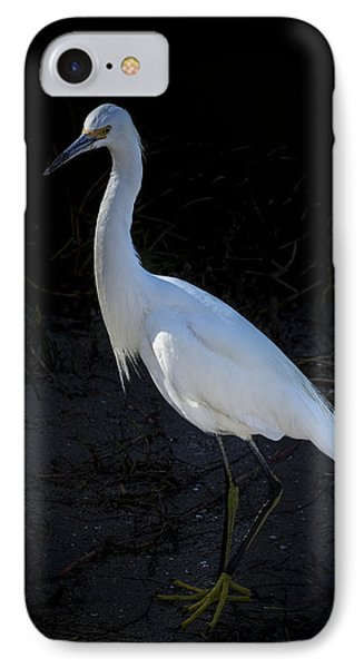 Portrait In White IPhone Case by Marvin Spates