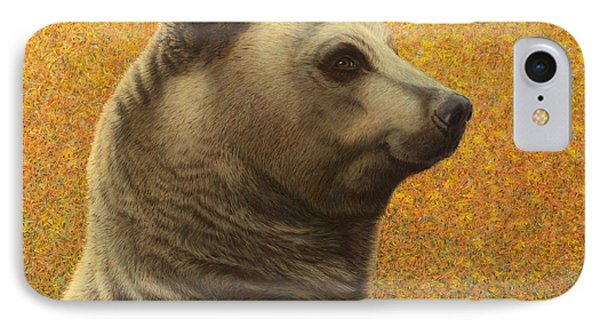 Portrait Of A Bear IPhone Case by James W Johnson