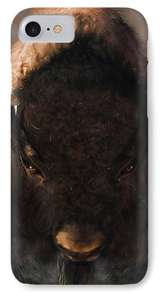 Portrait Of A Buffalo IPhone Case by Daniel Eskridge