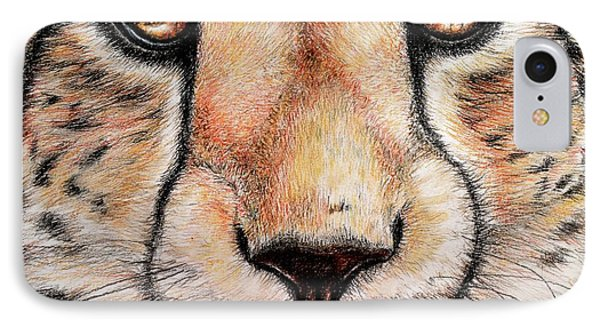 Portrait Of A Cheetah IPhone Case by Heidi Kriel