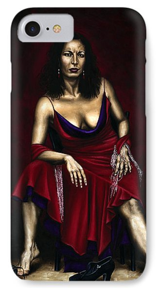 Portrait Of A Dancer Phone Case by Richard Young
