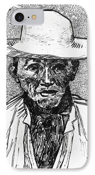 Portrait Of A Farmer IPhone Case by Vincent Van Gogh