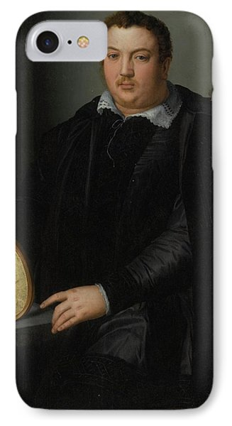 Portrait Of A Gentleman IPhone Case by Alessandro Allori