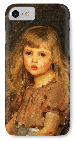 Portrait Of A Girl IPhone Case by John William Waterhouse