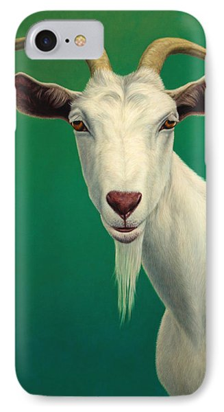 Portrait Of A Goat IPhone 7 Case by James W Johnson