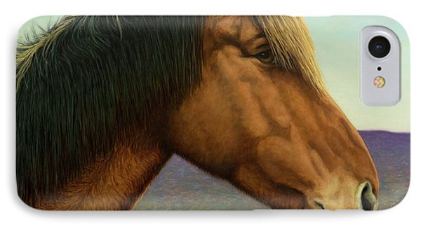 Portrait Of A Horse IPhone Case by James W Johnson