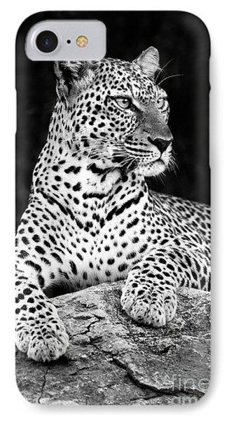 Portrait Of A Leopard Phone Case by Richard Garvey-Williams