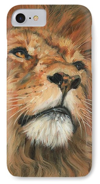 Portrait Of A Lion IPhone Case by David Stribbling