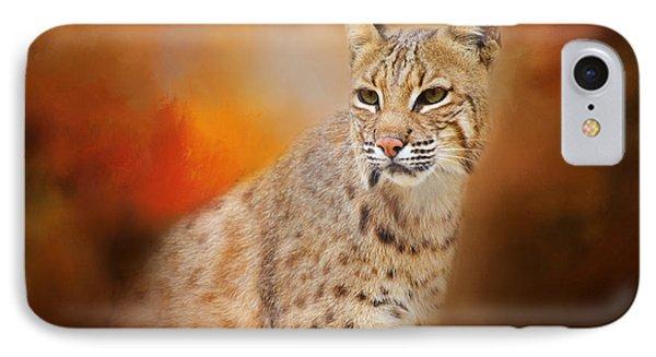 Portrait Of A Lynx IPhone Case by Lynn Bauer