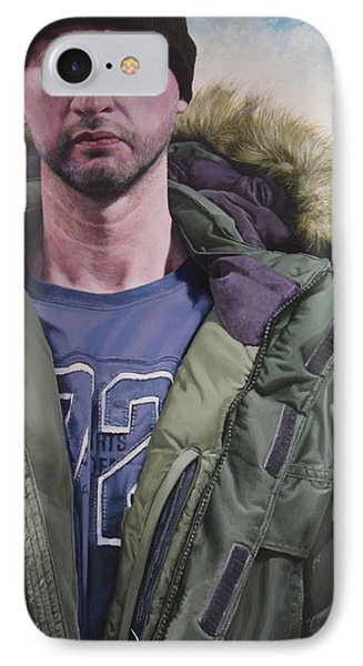 Portrait Of A Mountain Walker. Phone Case by Harry Robertson