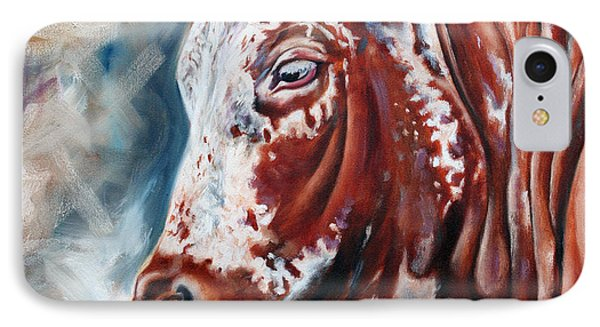 Portrait Of A Nguni Phone Case by Ilse Kleyn