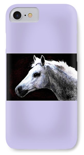 Portrait Of A Pale Horse Phone Case by Angela Davies