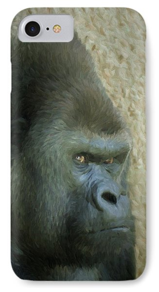 Portrait Of A Silverback Gorilla IPhone Case by Ernie Echols