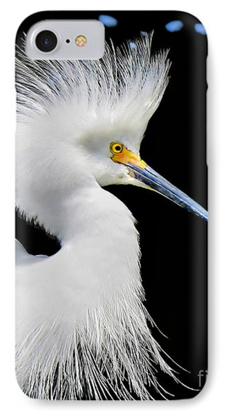 Portrait Of A Snowy White Egret IPhone Case by Jennie Breeze