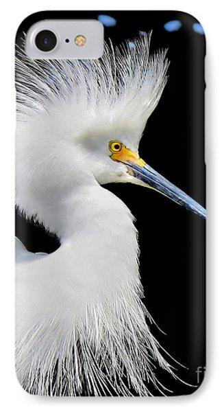Portrait Of A Snowy White Egret IPhone Case